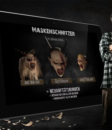 Maskenschnitzer Florian Engl – Design und Coding