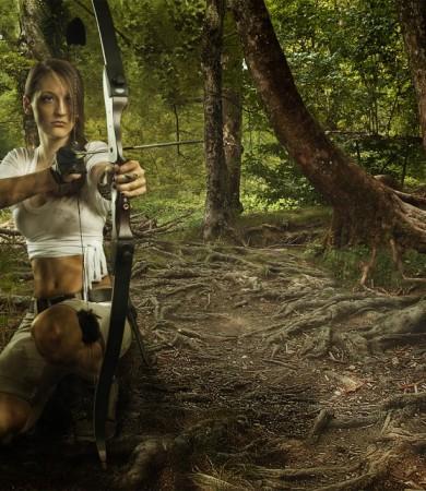 Female Warrior Shooting