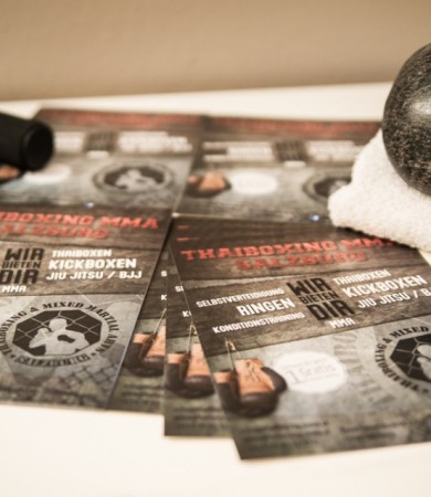 Flyer Design für Kampfsportzentrum