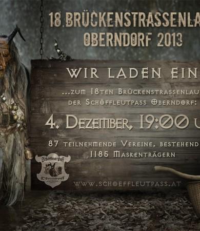Flyer-Composing für Oberndorfer Krampus-Pass