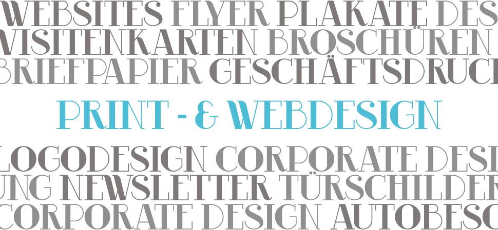 Print- & Webdesign Leistungen