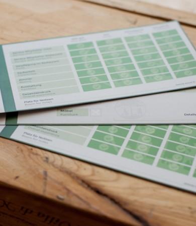 Bewertungs- & Reparaturkarten