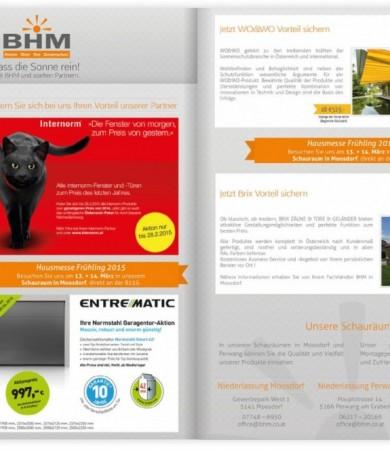 Inseratdesign für BHM