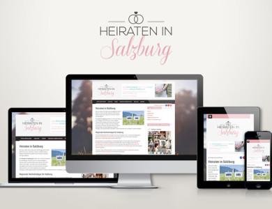 Responsive Web für Salzburger Hochzeits-Plattform
