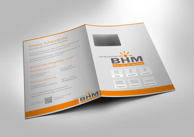 Werbemappen Grafikdesign für BHM