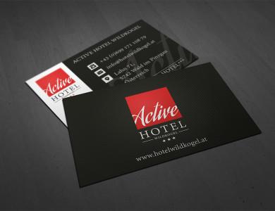 Logo- und Website für das Active Hotel Wildkogel