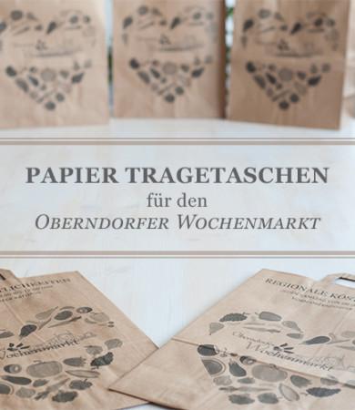 Nachhaltige Tragetaschen für den Oberndorfer Wochenmarkt