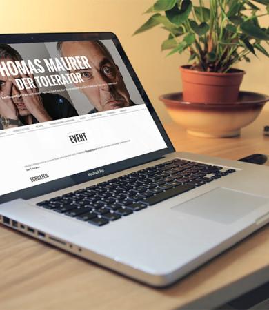 Website für Kabarett-Veranstaltung