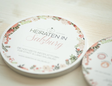 Flyer / Werbematerial für Heiraten in Salzburg