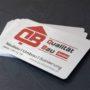 Alu eloxierte Metallvisitenkarten mit UV-Druck